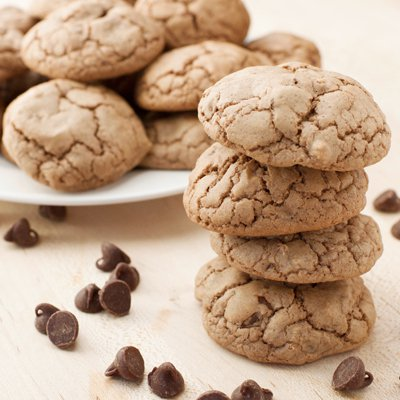 Chocolate Mint Brownie Cookies