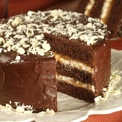 Bananas Foster Fudge Cake