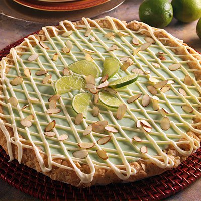 Gingered Key Lime-White Chip Cookie Tart