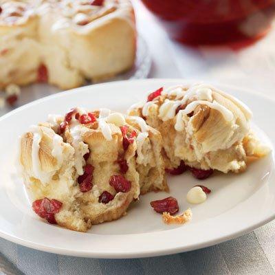 Cranberry Kissed Cinnamon Rolls