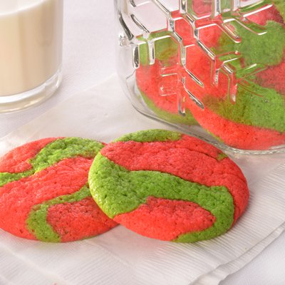 Green and Red Cookies