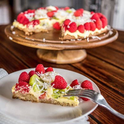 Fruit-Topped Sugar Cookie Dessert Pizza