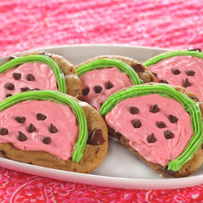 Chocolate Chip Watermelon Cookies