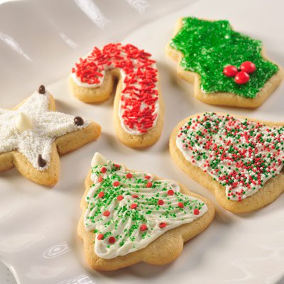 Snow -Topped Holiday Sugar Cookies