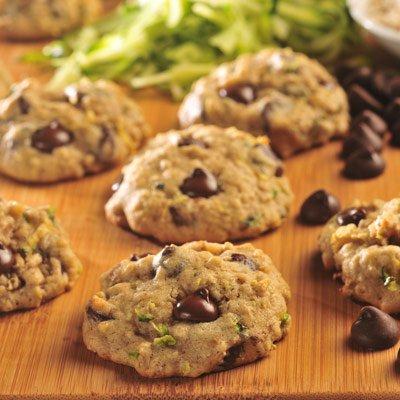 Zucchini-Oat Dark Chocolate Chip Cookies