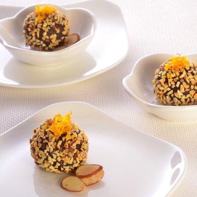 Dark Chocolate Amaretto & Toasted Almond Truffles