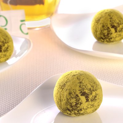 Dark Chocolate Green Tea Truffles