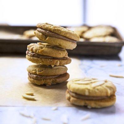Almond Butter Cookie Sandwiches