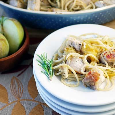 Apple, Pork and Noodle Casserole