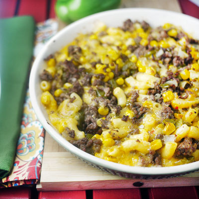 Tex-Mex Macaroni and Cheese for Two