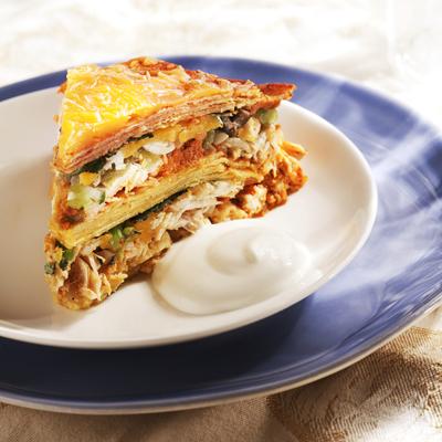 Turkey Enchilada Stack