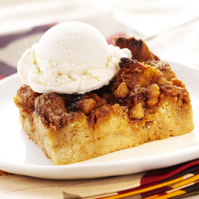 Pumpkin Butterscotch Bread Pudding