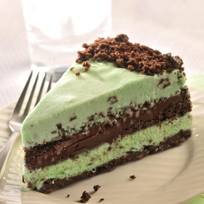 Dark Chocolate & Mint Ice Cream Torte