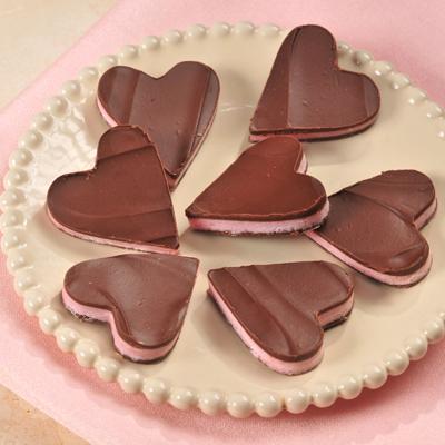 Chocolate-Mint Heart Fancies