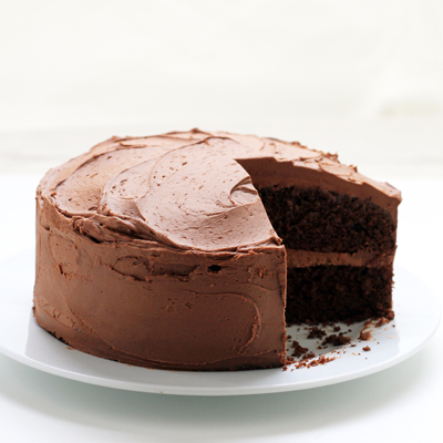 Easy Chocolate Layer Cake with Chocolate Buttercream