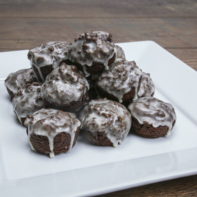 Baked Chocolate Donut Holes