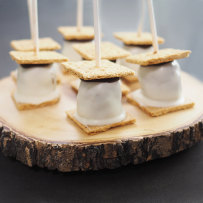 S'Mores Brownie Pops