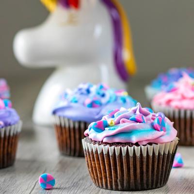 Unicorn Chocolate Cupcakes