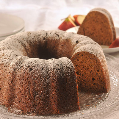 Pumpkin Apple Gingerbread Cake