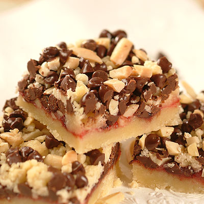Chocolate Raspberry Nut Bars