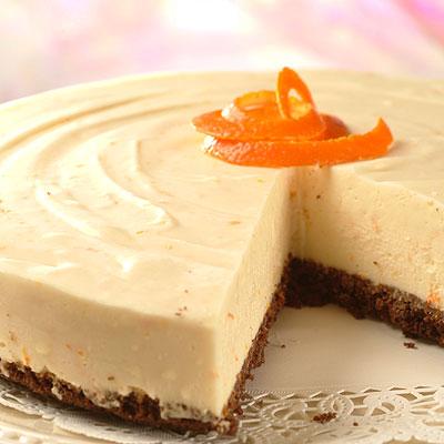 Orange White Chocolate Cheesecake