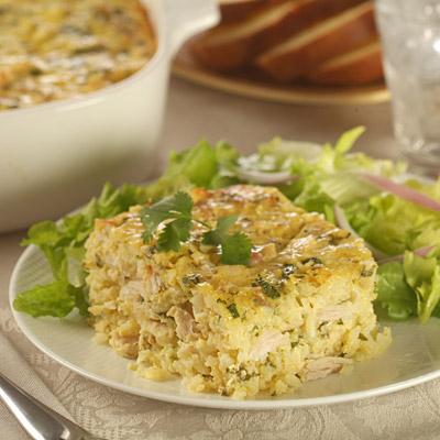 Zesty Chicken and Rice Casserole