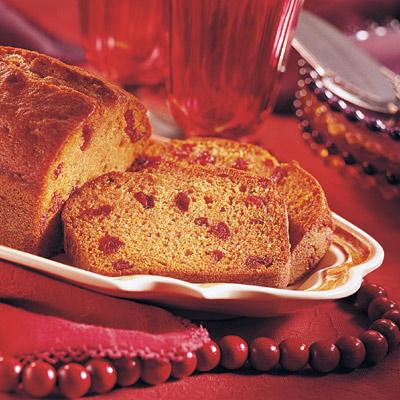 Sensibly Delicious Pumpkin Cranberry Bread