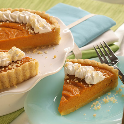 Pumpkin Tart with Hazelnut Crust