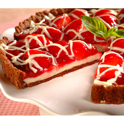 Duet of Chocolate and Berry Tart