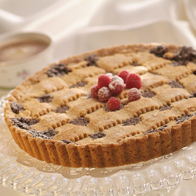 Chocolate Raspberry Linzer Torte