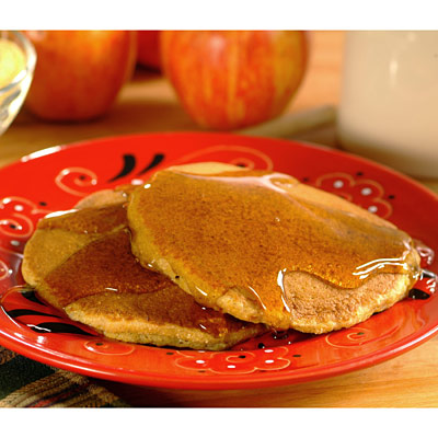 Apple Corn Meal Pancakes