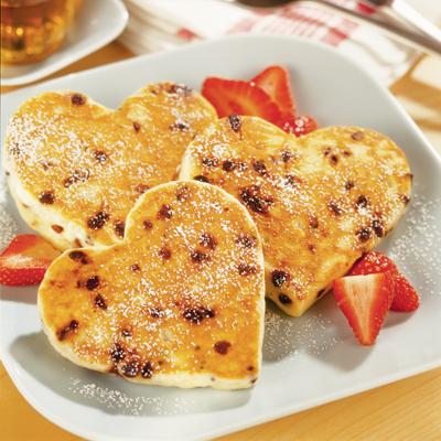Heavenly Heart-Shaped Pancakes