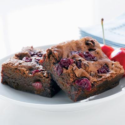 Chocolate Cherry Merlot Brownies