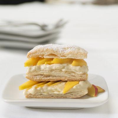 Mango Napoleon with Sweet Curry Cream