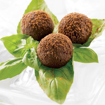Dark Chocolate & Basil Truffles