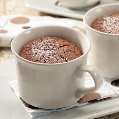 Mochaccino-Caramel Lava Cakes