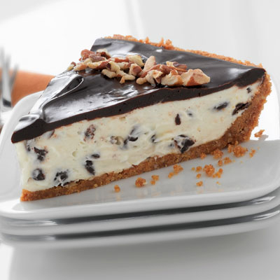 Chocolate Tuxedo Pie With Pecan Crust