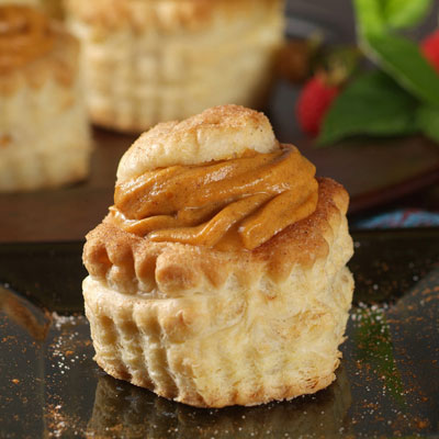 Pumpkin Mousse In Cinnamon Pastry Shells