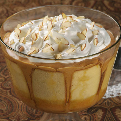Orange Almond Pumpkin Cream Trifle