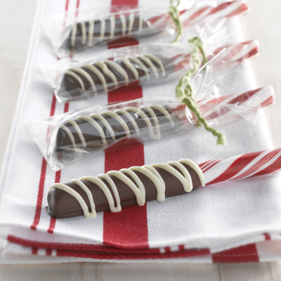 Dipped Peppermint Sticks