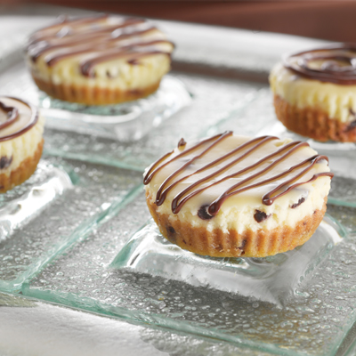 Double Chocolate Chip Mini Cheesecakes