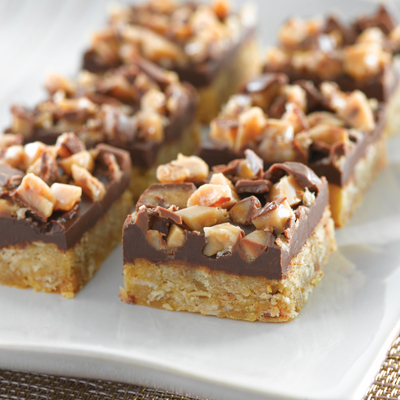 Chocolate Toffee Oat Bars