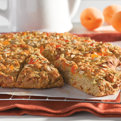 Whole Grain Apricot Scones