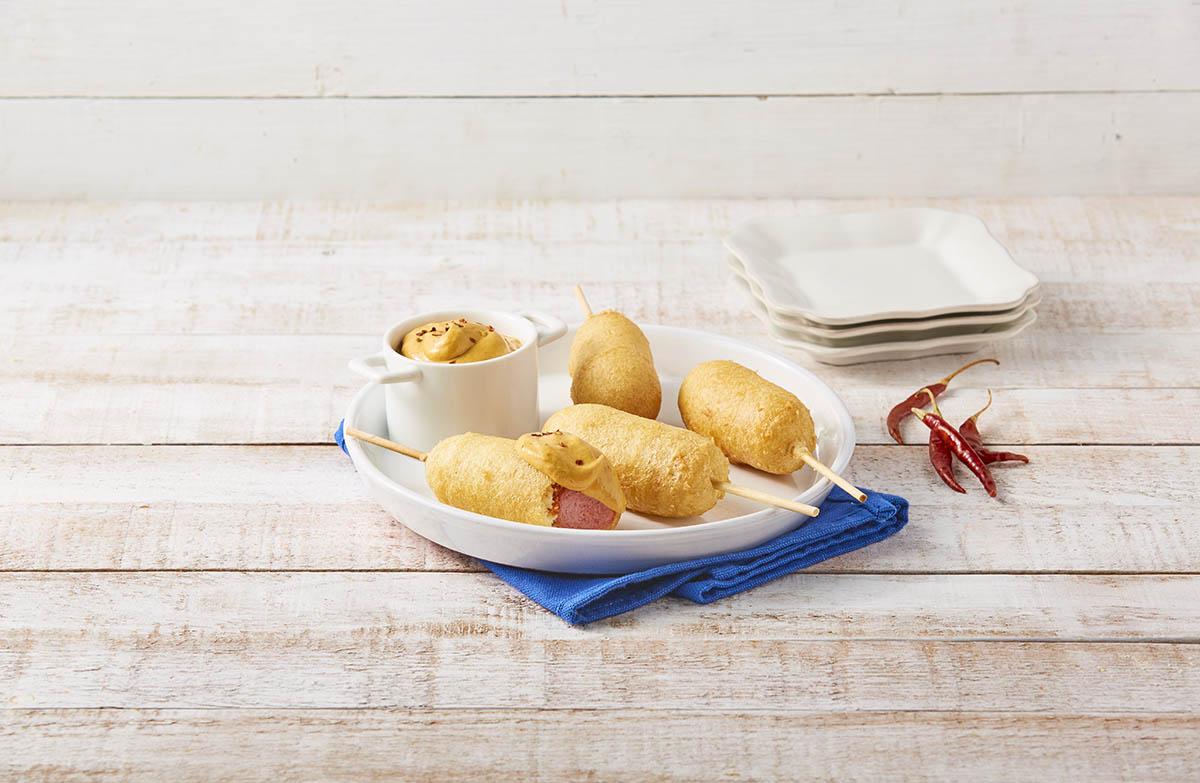 Banderillas con dip de mango y 3 chiles