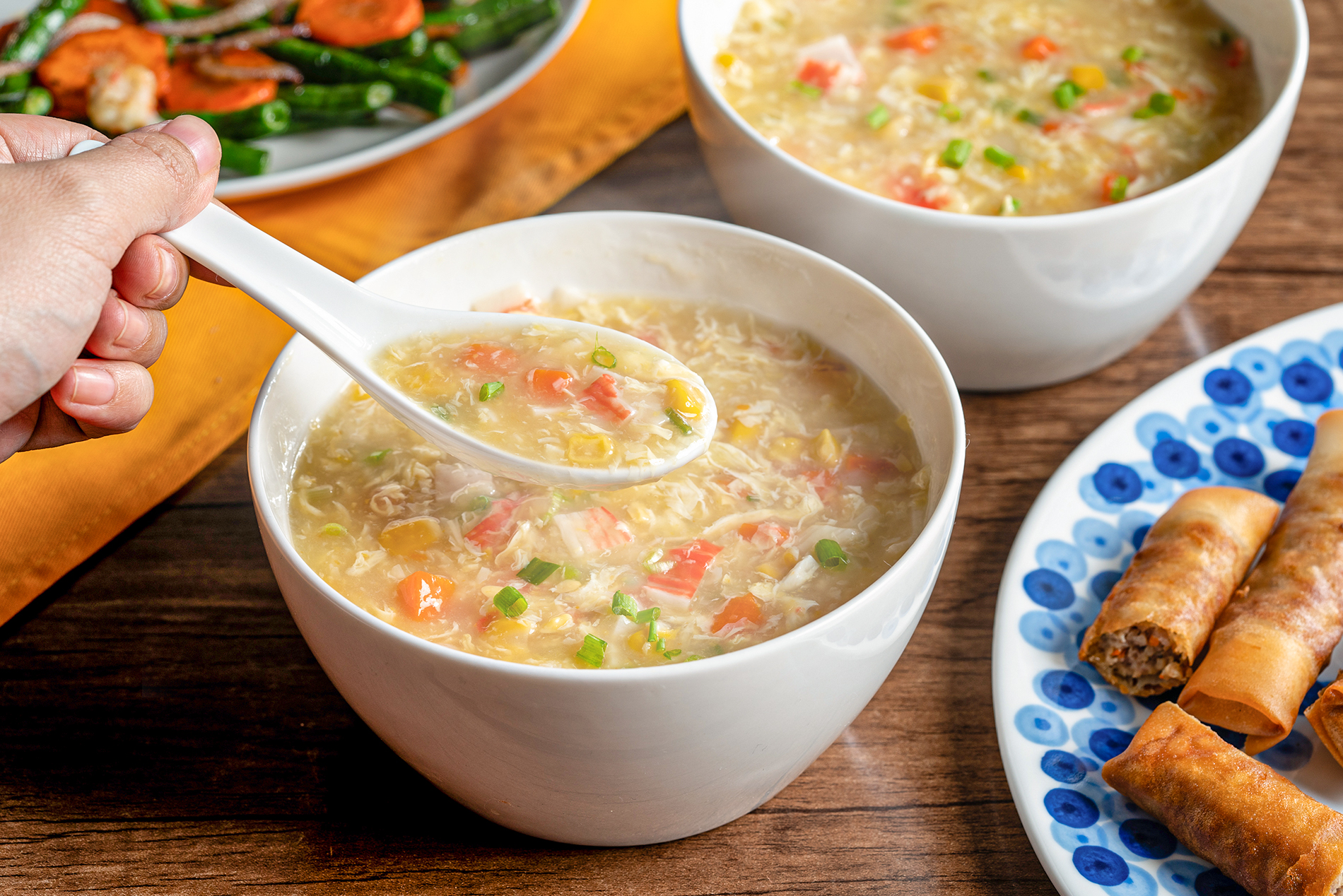 Chinese-Style Crab and Vegetable Soup