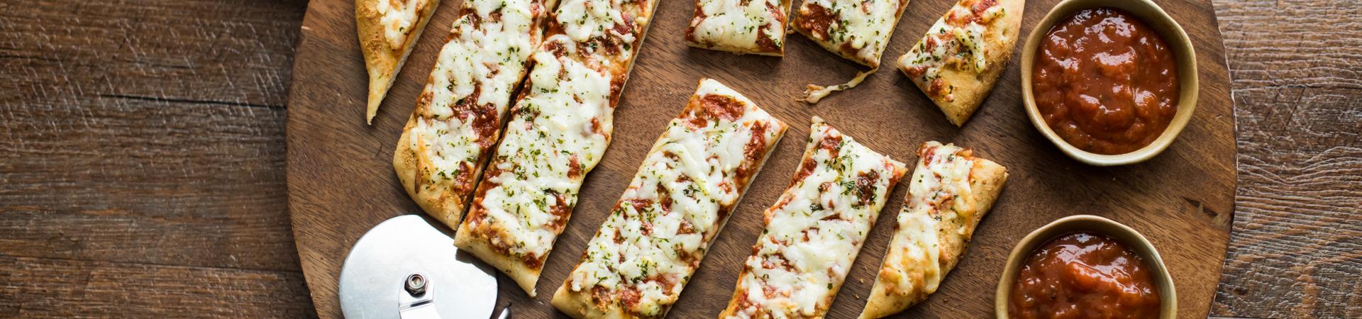 Easy Cheesy Pizza Sticks