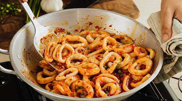 Sizzling Chili Squid