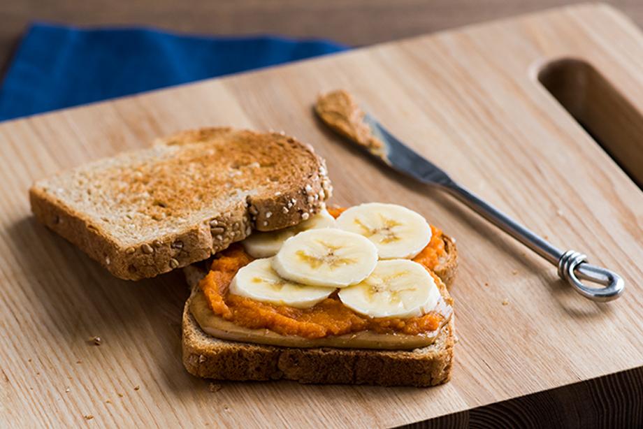 Pumpkin Banana Sandwich