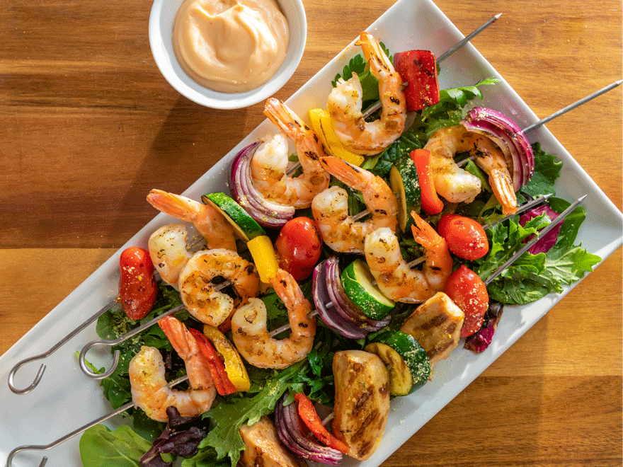 Chicken & Shrimp Skewers image