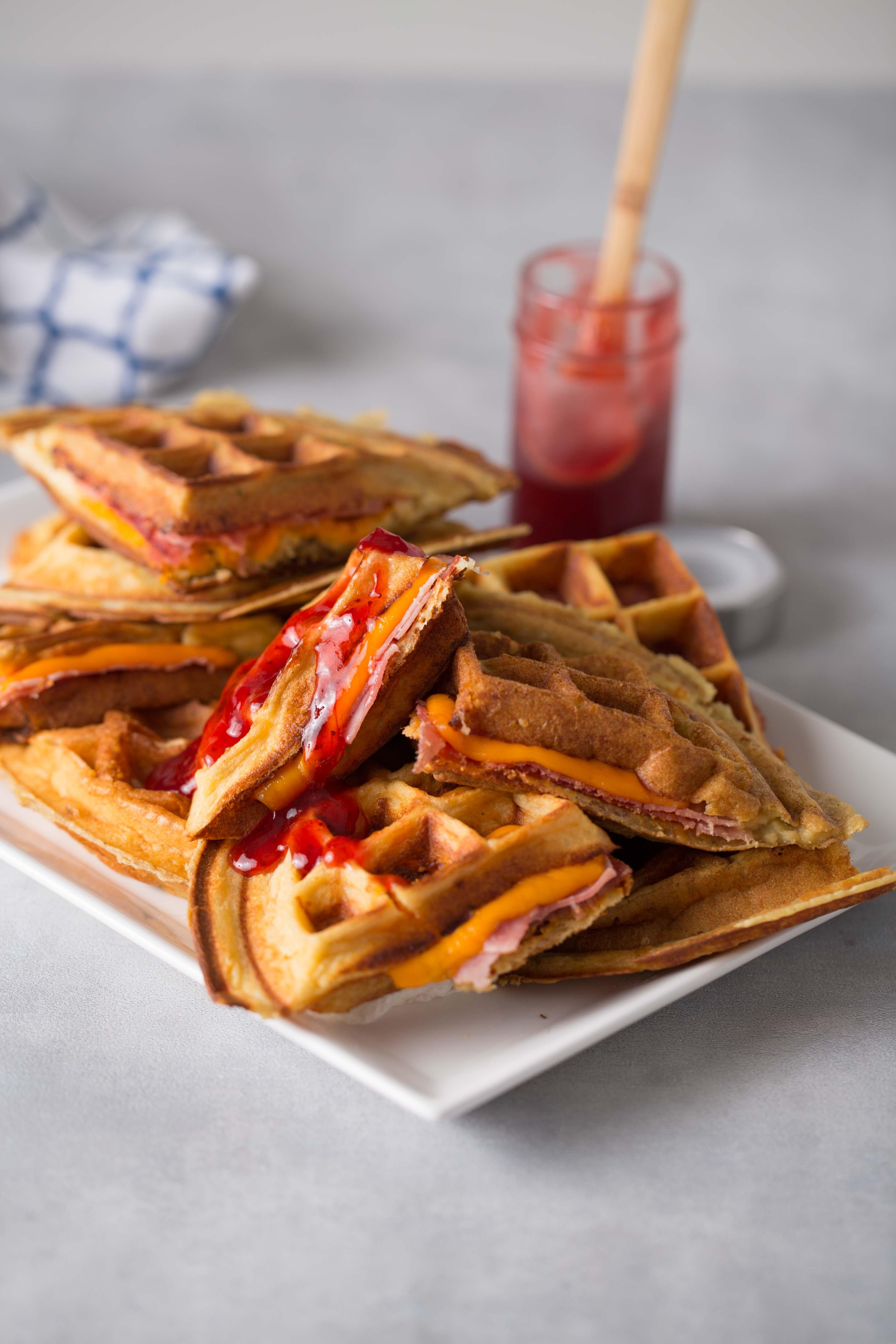 Waffles de Queso y Papa